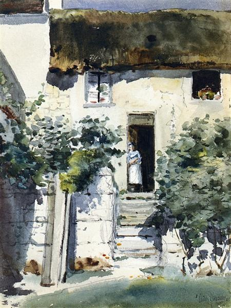 Girl in a Doorway, 1883 - Childe Hassam