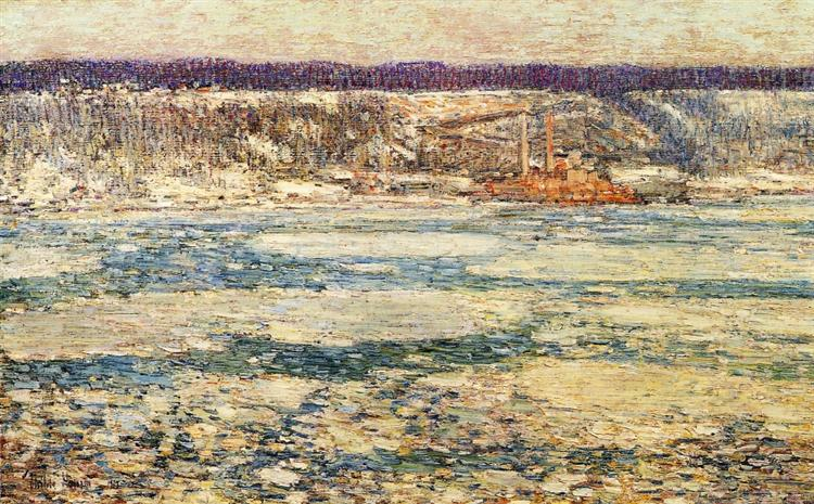 Ice on the Hudson, 1908 - Childe Hassam