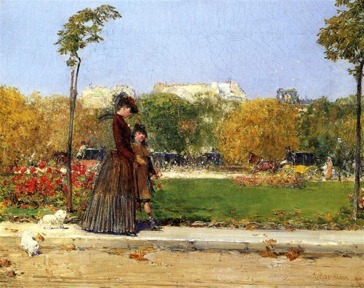 In the Park, Paris, 1889 - Childe Hassam