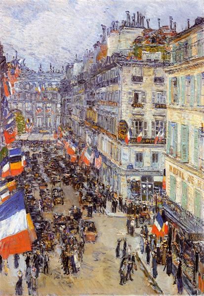 July Fourteenth, Rue Daunou, 1910 - Childe Hassam