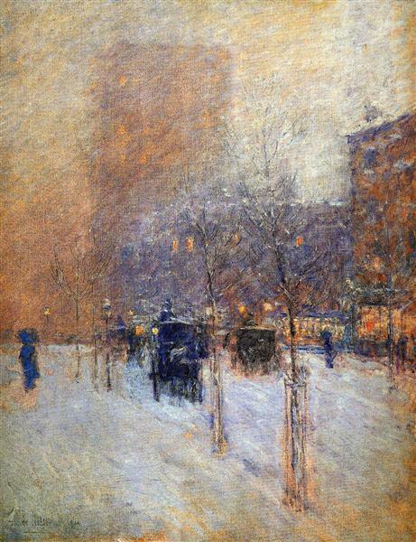 Late Afternoon, New York, Winter, 1900 - Childe Hassam