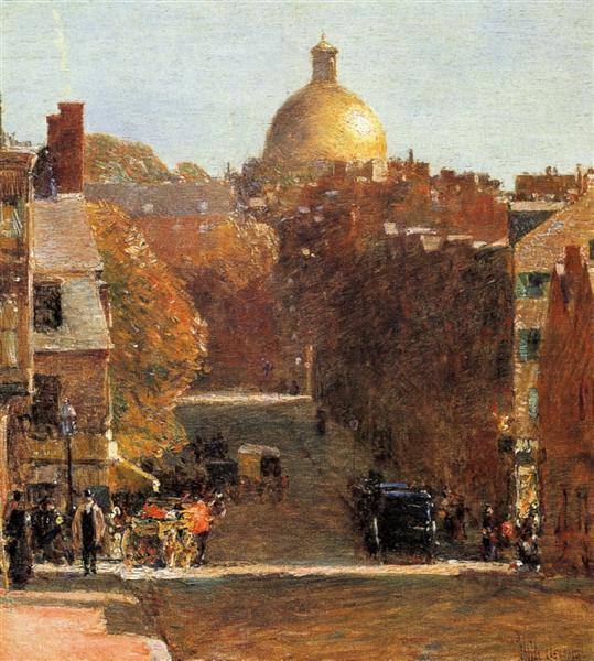 Mount Vernon Street, Boston, 1890 - Childe Hassam