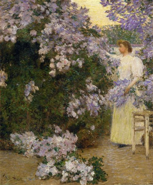 Mrs. Hassam in the Garden, 1896 - Childe Hassam
