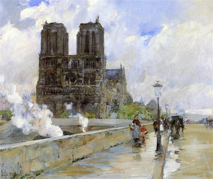 Notre Dame Cathedral, Paris, 1888 - Childe Hassam
