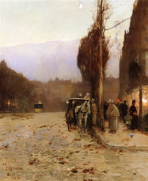Paris at Twilight, 1887 - Childe Hassam