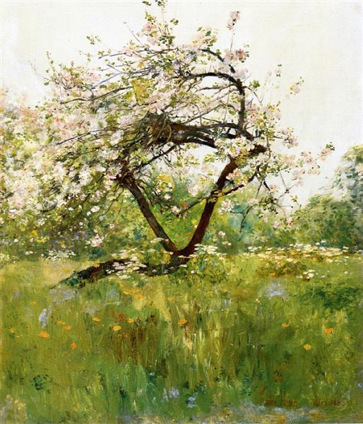 Peach Blossoms - Villiers-le-Bel, 1887 - 1889 - Childe Hassam