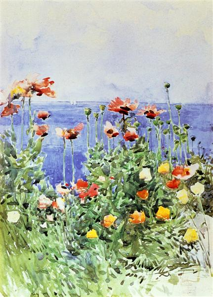 Poppies, Isles of Shoals 02, 1891 - Childe Hassam