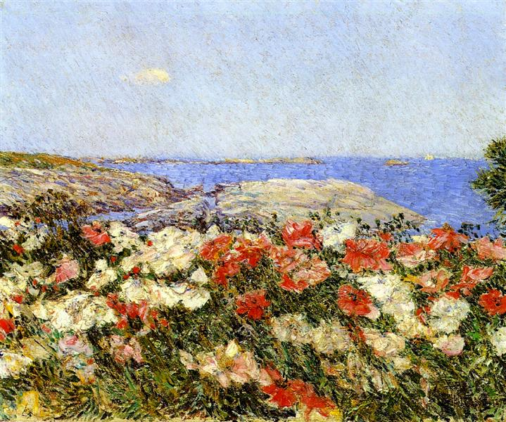 Poppies on the Isles of Shoals, 1890 - 柴爾德.哈薩姆