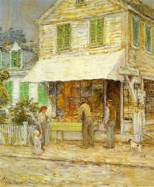 Provincetown Grocery Store, 1900 - Childe Hassam