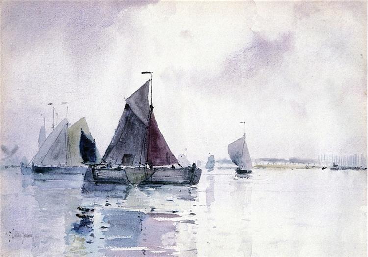Sailing Ship Locked in Ice, 1883 - Чайльд Гассам