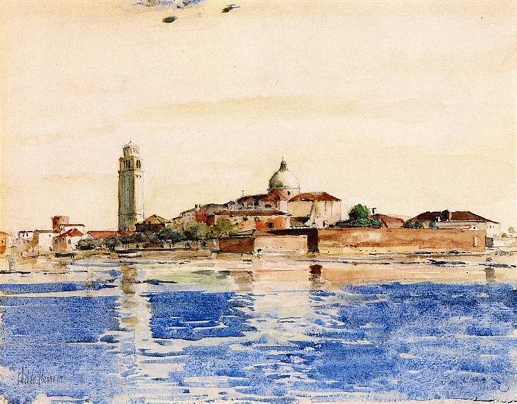 San Pietro, Venice, 1883 - Childe Hassam