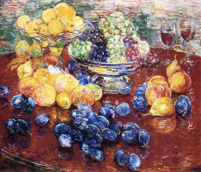 Still Life, Fruits, 1904 - Childe Hassam