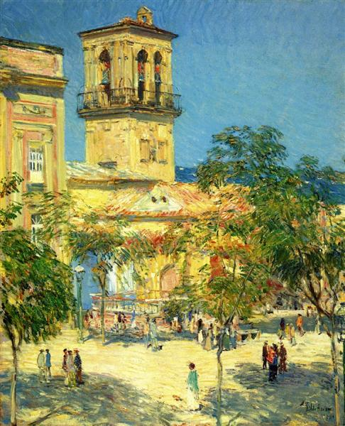 Street of the Great Captain, Cordoba, 1910 - Childe Hassam