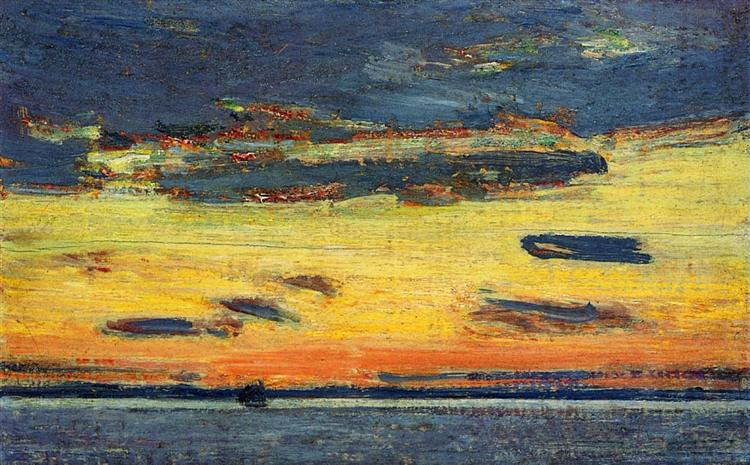 Sunset on the Sea, 1908 - Childe Hassam