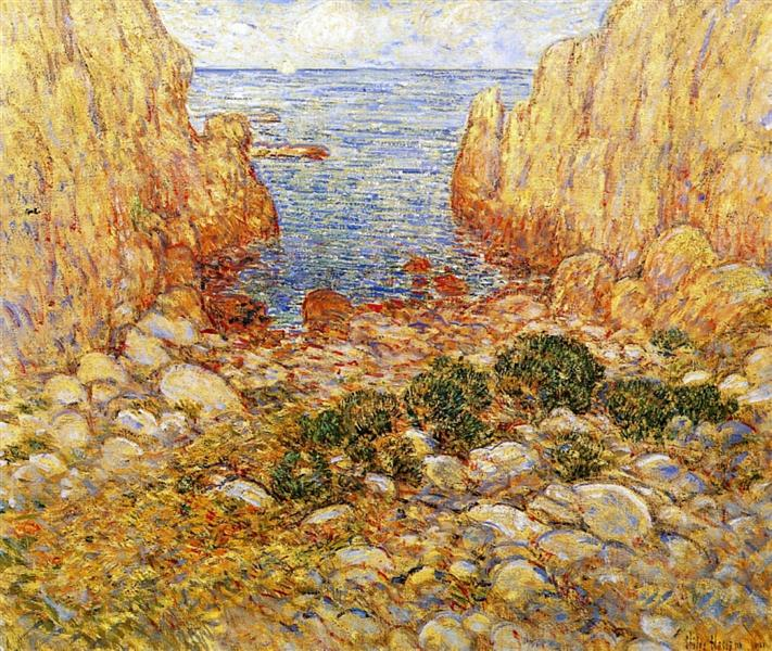 The Gorge - Appledore, Isles of Shoals, 1901 - Childe Hassam