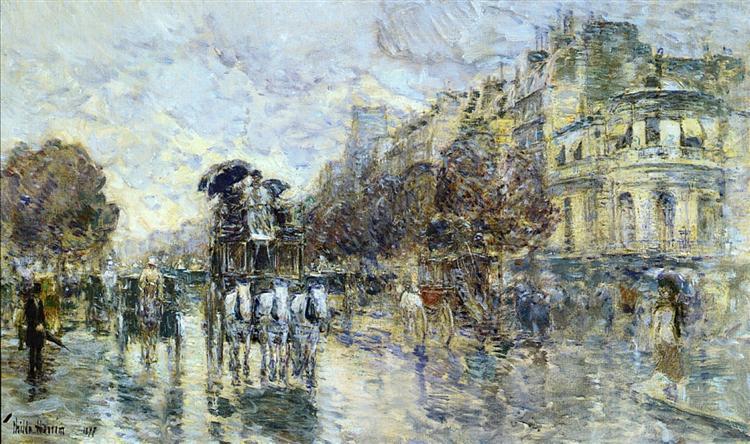The Grands Boulevard, Paris, 1897 - Childe Hassam