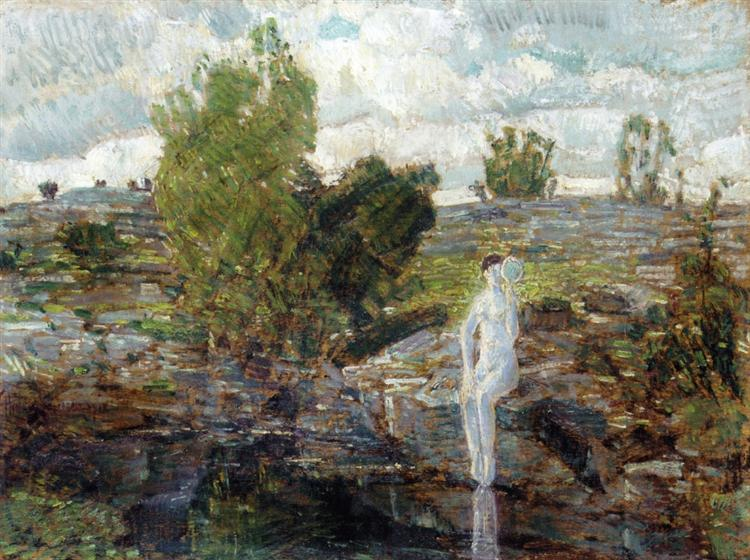 The Quarry Pool, Folly Cove, Cape Ann, 1918 - Childe Hassam