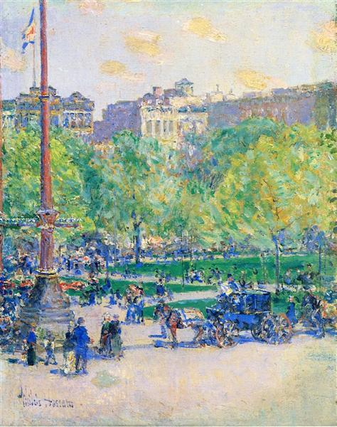 Union Square, 1890 - 1893 - Childe Hassam
