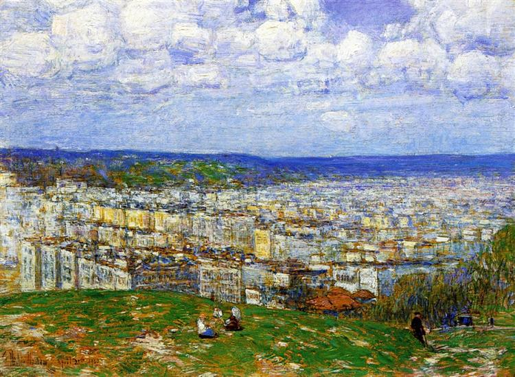 View of New York from the Top of Fort George, 1920 - Childe Hassam