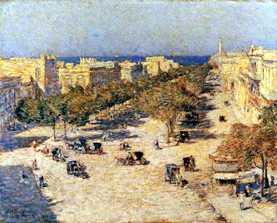 View of the Paseo del Prado, 1895 - Childe Hassam