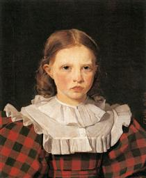 Portrait of Adolphine Købke, Sister of the Artist - Christen Købke