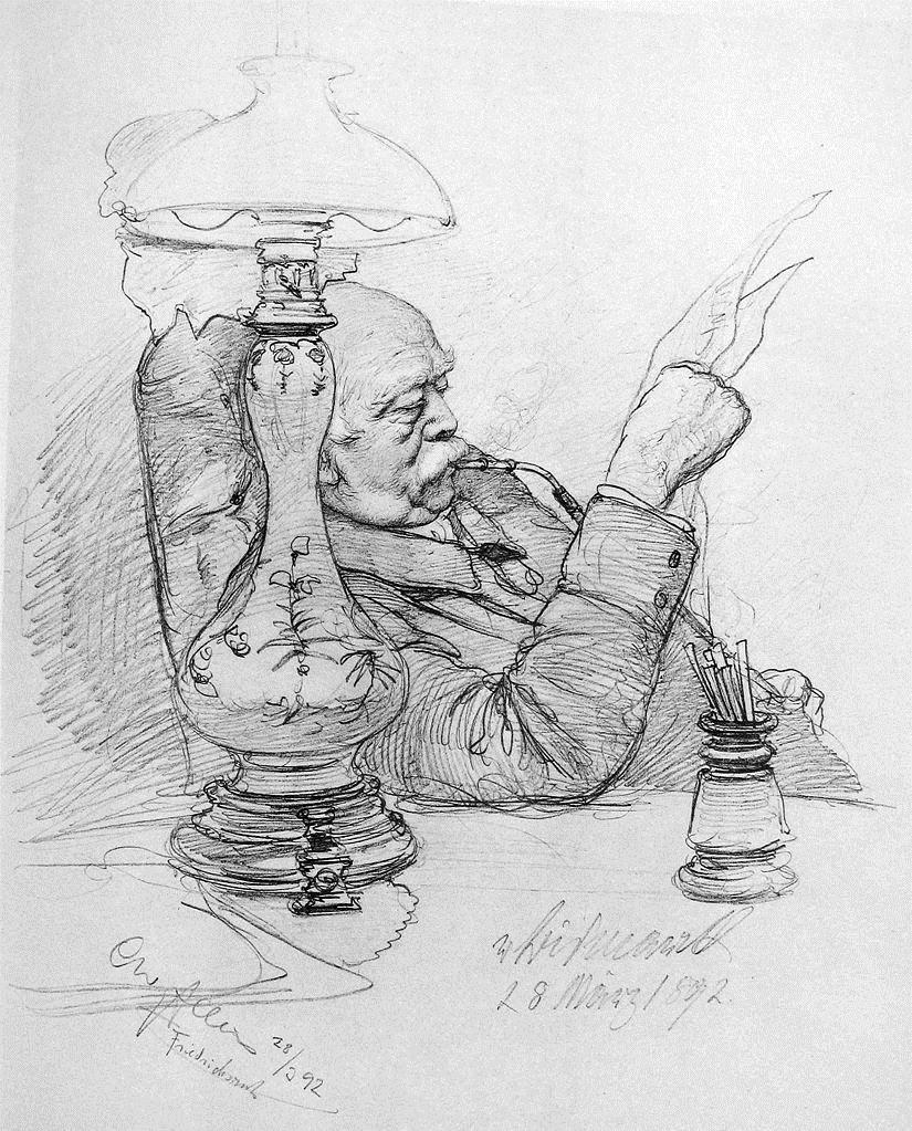 portrait of otto von bismarck 1892 christian wilhelm allers. Black Bedroom Furniture Sets. Home Design Ideas