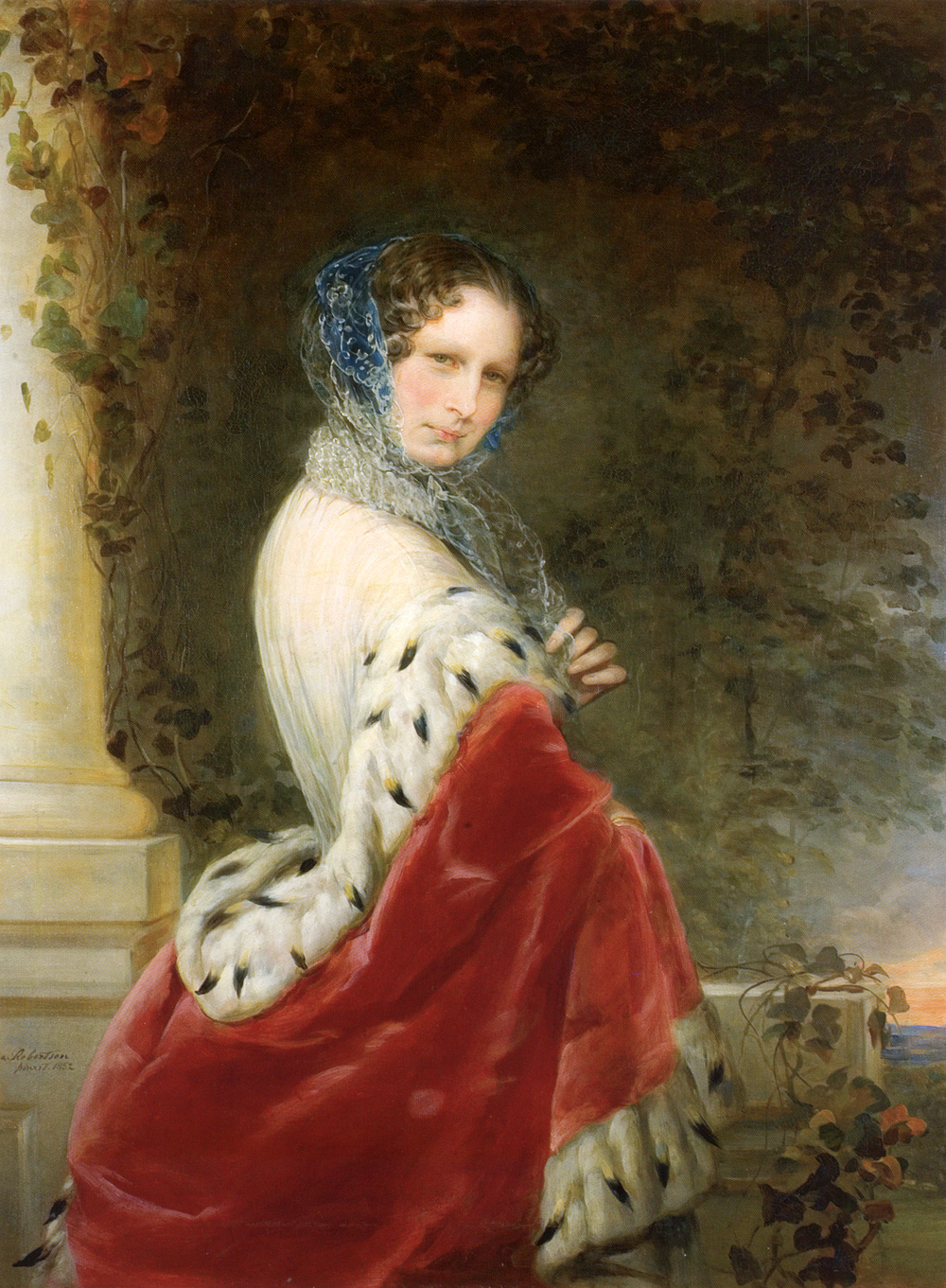 Portrait of Empress Alexandra Fyodorovna (Charlotte of Prussia), 1852