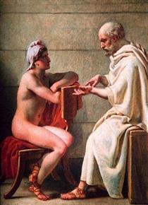 Socrates and Alcibiades - Christoffer Wilhelm Eckersberg
