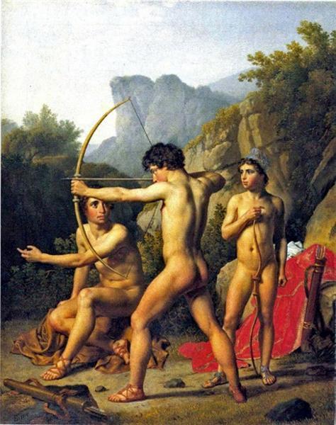 Tres muchachos espartanos - Eckersberg Christoffer Wilhelm