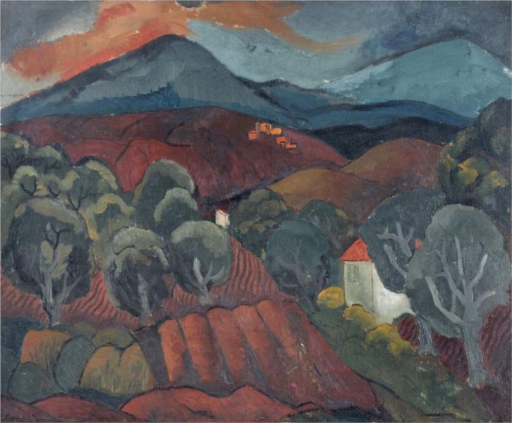 Landscape at Vence, 1927 - Christopher Wood