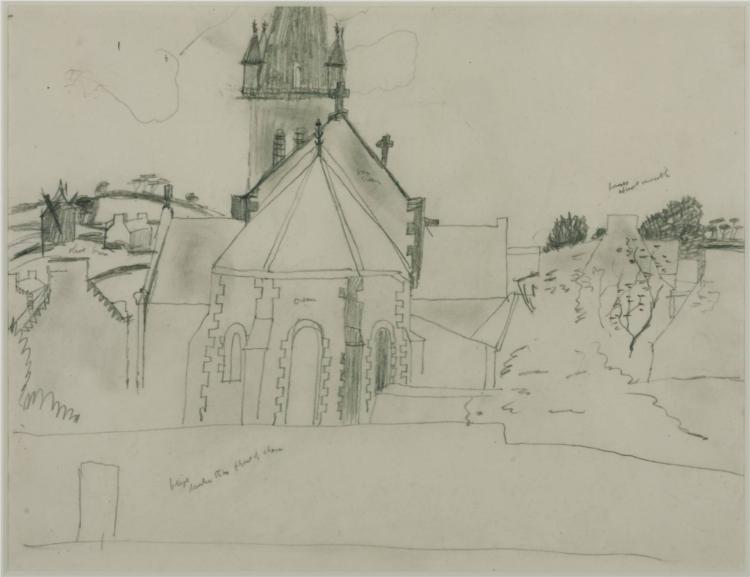 Study for 'Church at Tréboul', 1929 - Christopher Wood