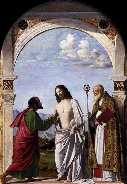 Doubting Thomas with St. Magnus, c.1505 - Cima da Conegliano
