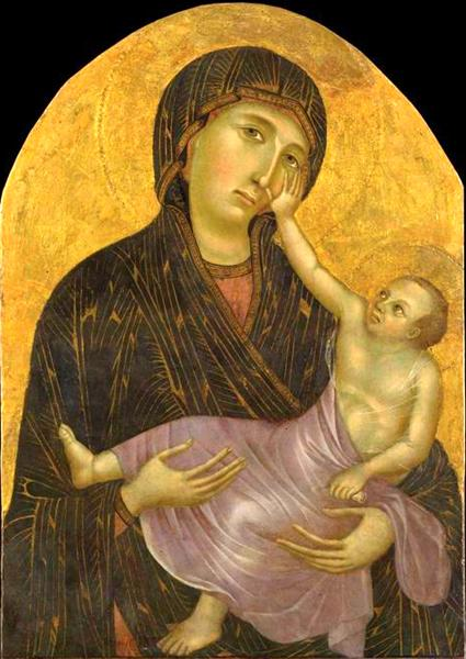 Painting of Holy Woman Holding Baby