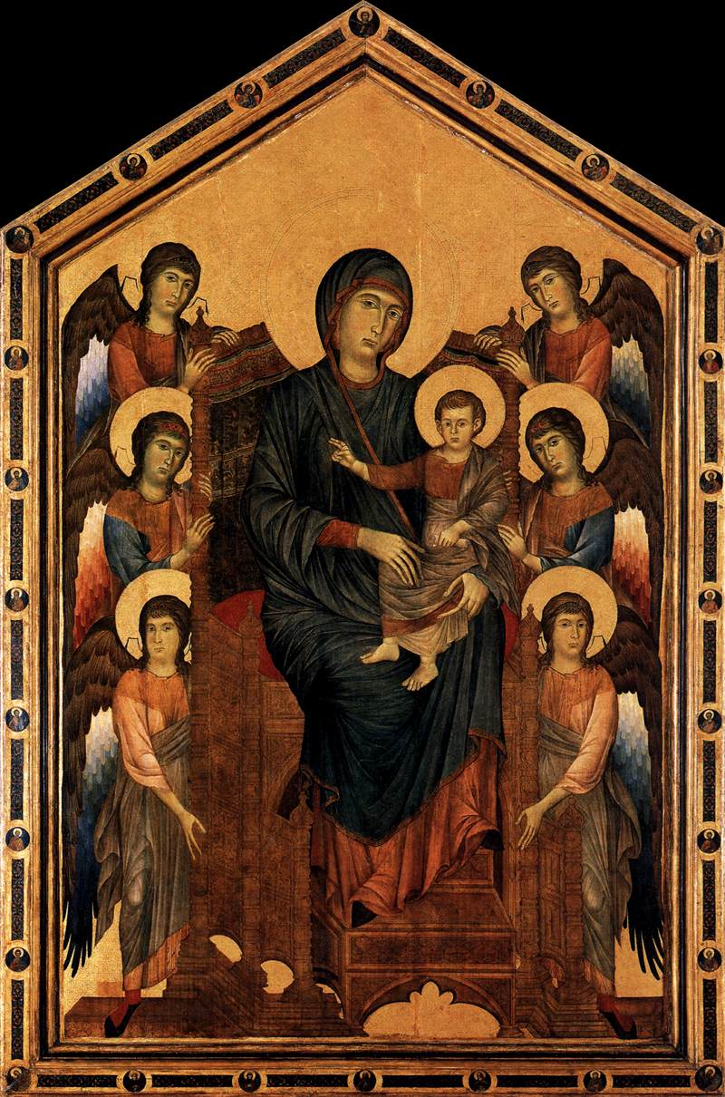 Virgin Enthroned with Angels, 1290 - 1295 - Cimabue ...