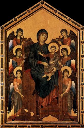 Virgin Enthroned with Angels - Cimabue