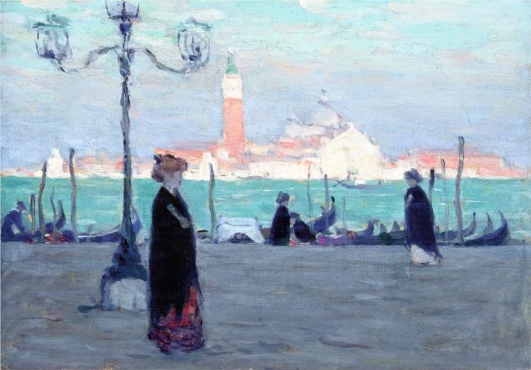 San Giorgio. View of the Mole, 1906 - Clarence Gagnon