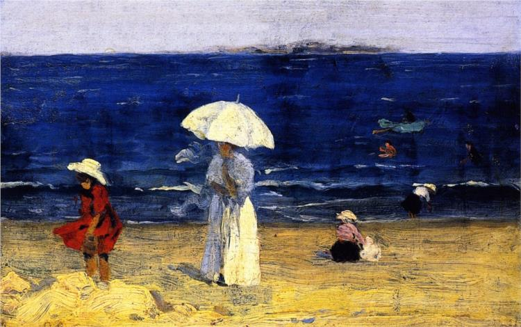 The Beach at Dinard, 1907 - Clarence Gagnon