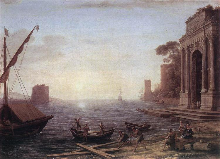A Seaport at Sunrise, 1674 - Клод Лоррен