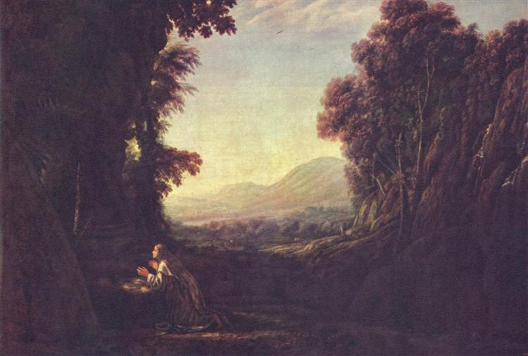 Landscape with repentant Magdalene, c.1647 - Claude Lorrain