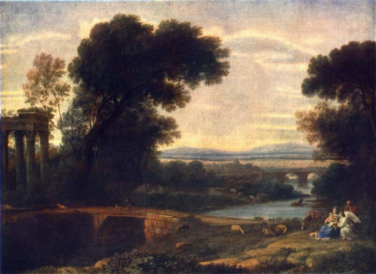 Landscape with Rest in Flight to Egypt, 1666 - Claude Lorrain