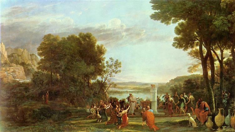 Landscape with the Adoration of the Golden Calf, 1653 - Claude Lorrain