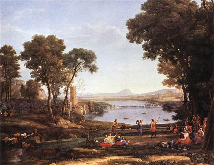 Landscape with Water Mill, 1648 - Claude Lorrain