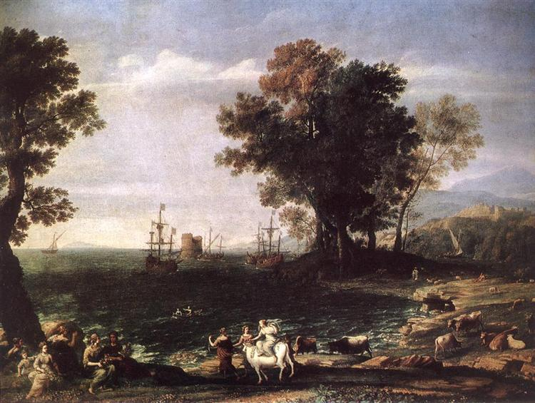 the rape of europa 1655 claude lorrain wikiartorg