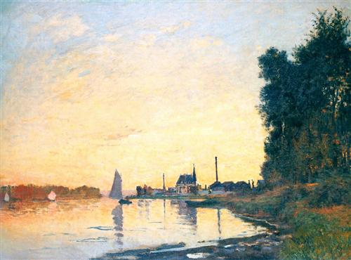 Argenteuil, Late Afternoon - Claude Monet