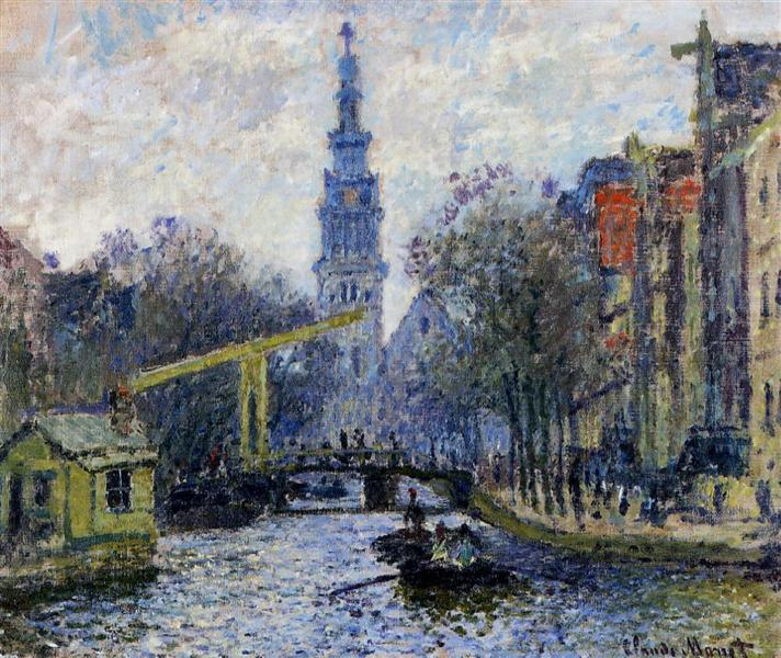 Canal in Amsterdam, 1874 - Claude Monet