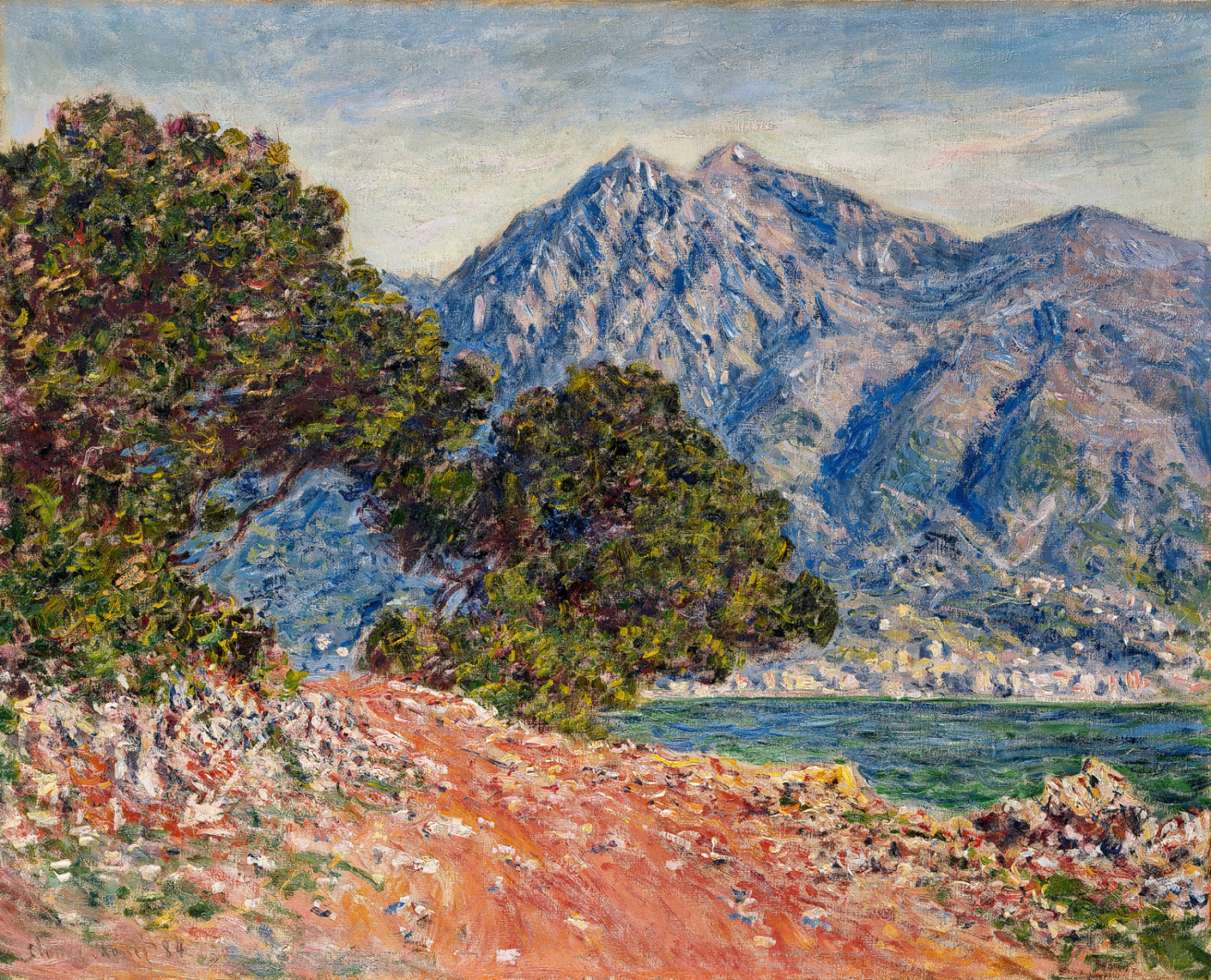 Обои Пейзаж, картина, Жуан-ле-Пен, Клод Моне. Разное foto 14
