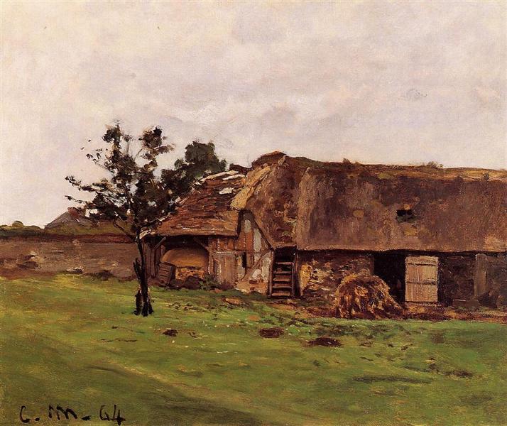 Farm near Honfleur - Claude Monet
