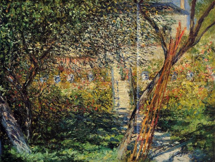 Сад в Ветёе, 1881 - Клод Моне