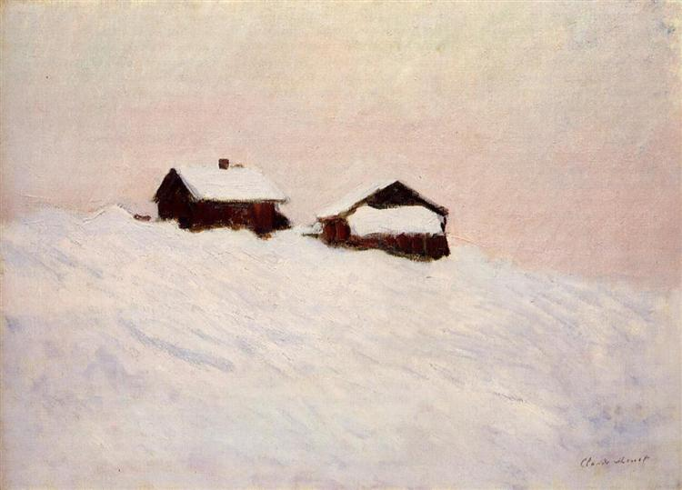 Houses in the Snow, 1895 - Claude Monet