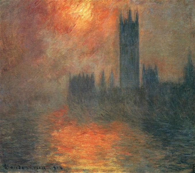 Houses of Parliament, Sunset, 1904 - Claude Monet
